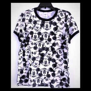 Disney Mickey Mouse All Over Face Sketch Tee